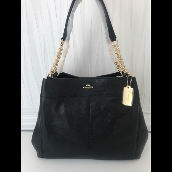 5786e835adcb NWT COACH LEXY CHAIN SHOULDER BAG F22210 BLACK